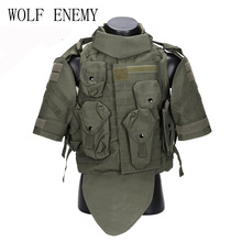 Tactical Vest Assault-Plate-Carrier Body-Armor USMC Airsoft Military Molle Camouflage