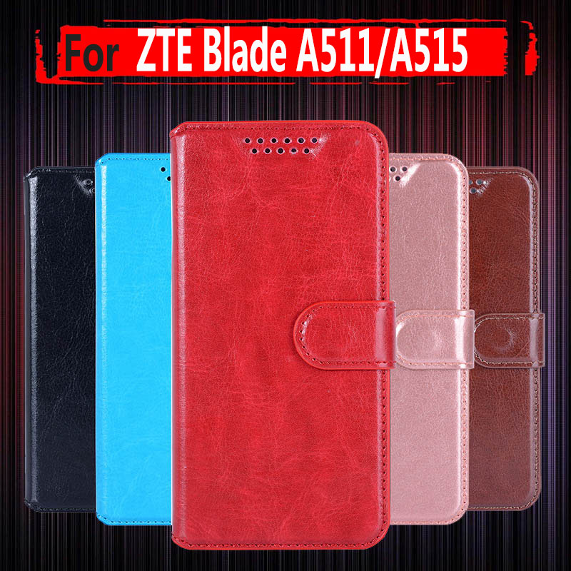 PU Leather Case For ZTE Blade A511 Case For ZTE A511 A515 A 511 A 515 BA511 5 Filp Strike Embossing Cover Phone Bags & Cases image
