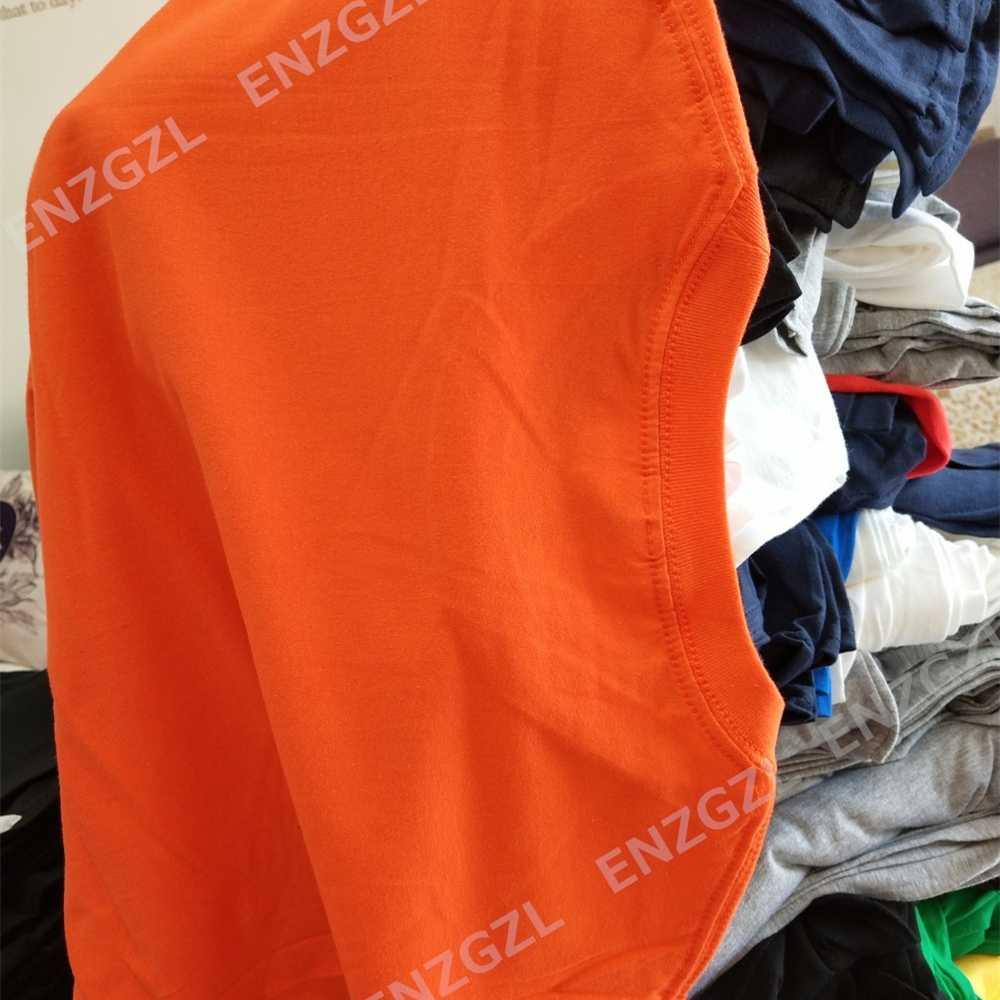 Enzgzl 2019 新しい夏の tシャツメンズ綿 100% tシャツの男性のクロスプリント tシャツ半袖ラウンドネックボーイ tシャツ白