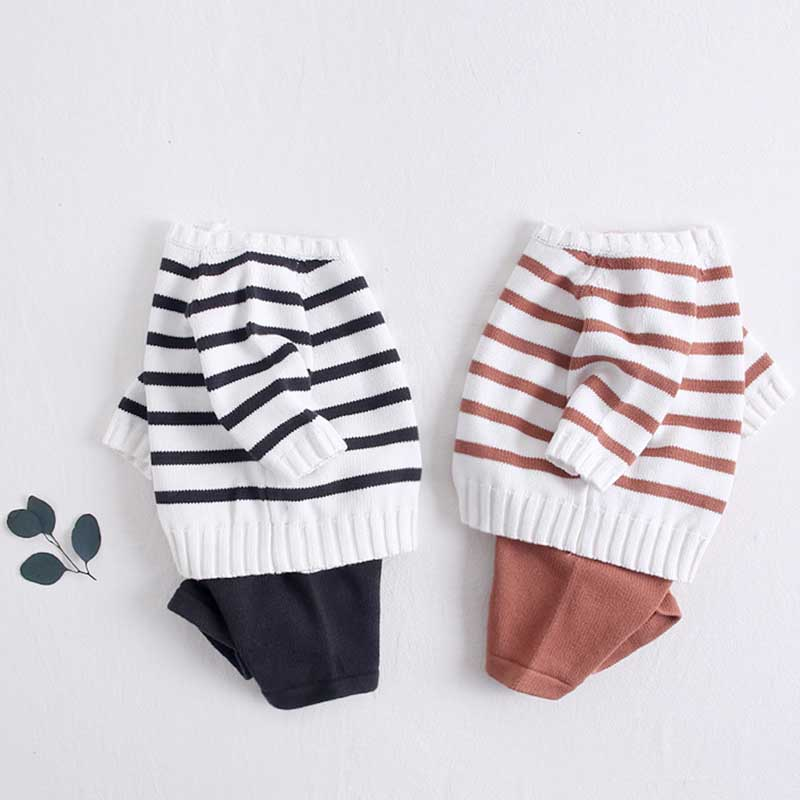 Baby Girls Boys Clothing Set Knit Sweaters + Shorts Knitted Wool Clothes Suit Hollow Out Newborn Toddler Long Sleeve Clothes