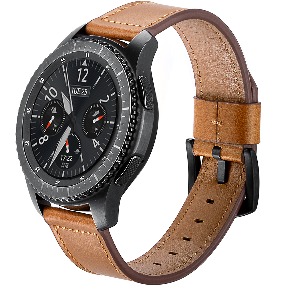 Classic Watch Band for Samsung Gear S3 Classic Frontier Fashion Genuine Leather Replacement Wrist Strap Metal Buckle Watch Band crested genuine leather strap for samsung gear s3 watch band wrist bracelet leather watchband metal buck belt