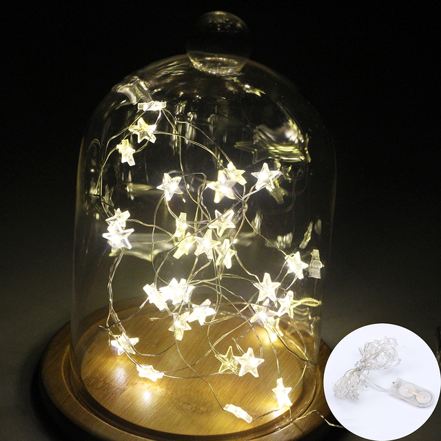 102030 led copper wire starry string light battery operated led fairy light