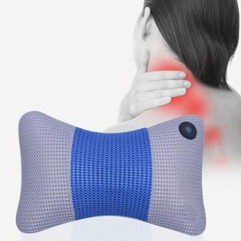 FOUAVRTEL Elctronic Neck Massager Back head Massage Pillow Cushion,Neck Massager,Car Home Cervical Shiatsu Massager