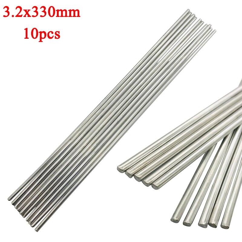 10pcs 330mm Aluminium 3.2mm Diameter Welding Rods  Low Temperature Tig Soldering Brazing Rod Mayitr