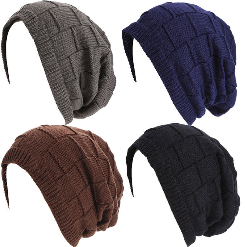 New Knitted Beanies Unisex Fashion Knit Hats Winter Spring Hat Solid Color Elastic Hip-Hop Cap For Men Women -MX8