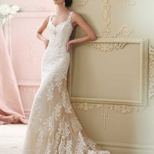 TPSAADE White Lace A Line Sexy Backless wedding dress