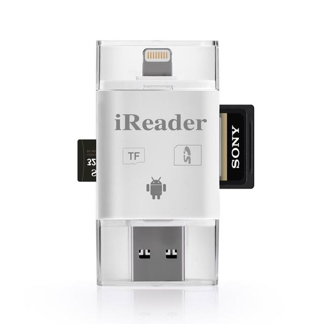 iReader 3 in 1 i Flash Drive USB Micro SD SDHC TF OTG Card Reader Adapter for iPhone 5/5s/6/6 plus/ipad/Samsung OTG Phones