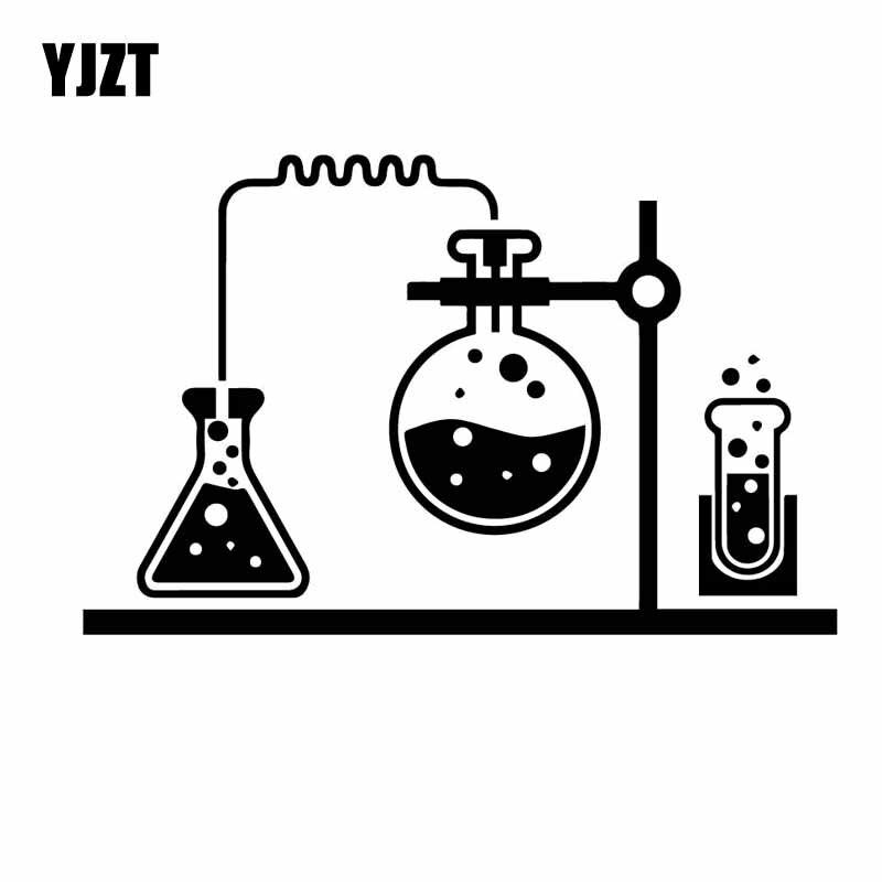 YJZT 18.1CM*11.5CM Chemical Lab Science Chemistry Vinly Decal Decor Car Sticker Black/Silver C27-0317