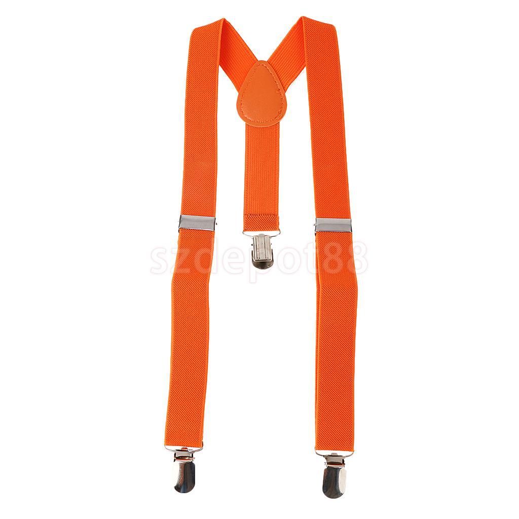 Baby Suspenders Children's Boys Bowtie Kid Suspender Set Elastic Adjustable Y-Back Braces Kids Ties Wedding Orange