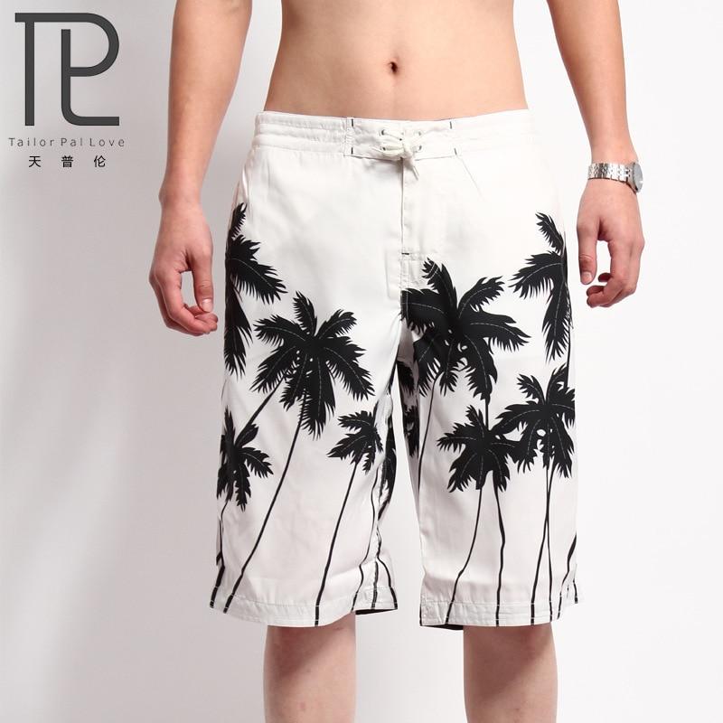 Men's Beach Shorts Mens Board Shorts Summer Clothing Coconut Trees Shorts Quick Dry Sea Shorts Masculina Letter Board Bermuda