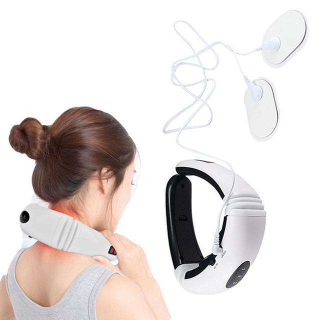Electric Pulse Neck Massager Cervical Vertebra Impulse Massage Physiotherapeutic Acupuncture Magnetic Therapy Health Instrument
