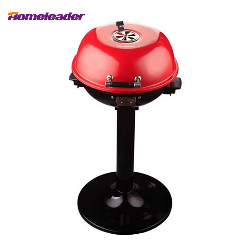 Homeleader Table Electric BBQ Grill Stand Electric BBQ Grill GR-103S 3 river country rc t34cc adjustable bbq grill smoker thermometer 50 to 550f