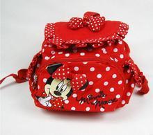 2016 New HOT Pequeño Pequeño Bebé Niños Niñas Mochilas Bolso de Escuela de La Historieta de Minnie Mouse para Niños