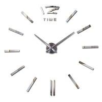 Новинка  Лидер продаж  часы  настенные наклейки  часы  украшение дома  современный кварцевый diy 3d Акриловый зеркальный металл  бесплатная дос...