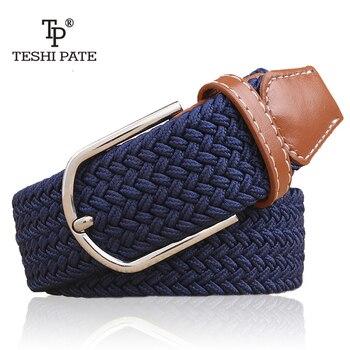 elastic belt knitted canvas belt decoration belt female pin buckle canvas strap women and man 2018