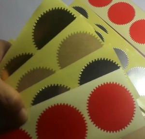 Image 2 - 500pcs 45mm Embosser Sticker for Embossing Stamp ,Customize Embosser seal ,Diy Embossing Seal for Card,University Certificate