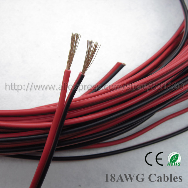 Online Shop 10m led 2 Pin Copper wire 22AWG 20AWG 18AWG 16AWG IEC ...
