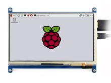 Raspberry Pi 7 inch HDMI Touch Screen  Interface 2 LCD Capacitive Display Support RPi Banana Pi/Pro BB Black