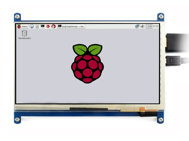 "Waveshare 7 ""HDMI LCD (C) kapazitiven Touchscreen IPS Unterstützt Raspberry Pi Null/Null W/Null WH/2B/3B/3B + Computer Monitor"