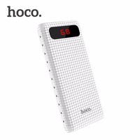HOCO B20A 20000mAh Dual USB Power Bank 18650 Portable Mobile Phone Charger External Battery Bank For