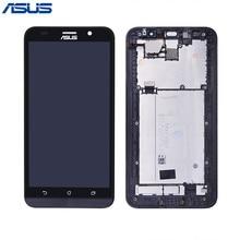 Asus ZE551ML Màn Hình Ban Đầu Màu Đen LCD Hiển Thị màn hình Cảm Ứng digitizer Lắp Ráp với Khung Đối với ASUS Zenfone 2 ZE551ML Màn Hình LCD