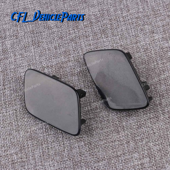 Pair Front Bumper L R Headlight Washer Nozzle Jet Cover Unpainted Cap 3C0955109A 3C0955110A For VW Passat B6 2006-2011 image