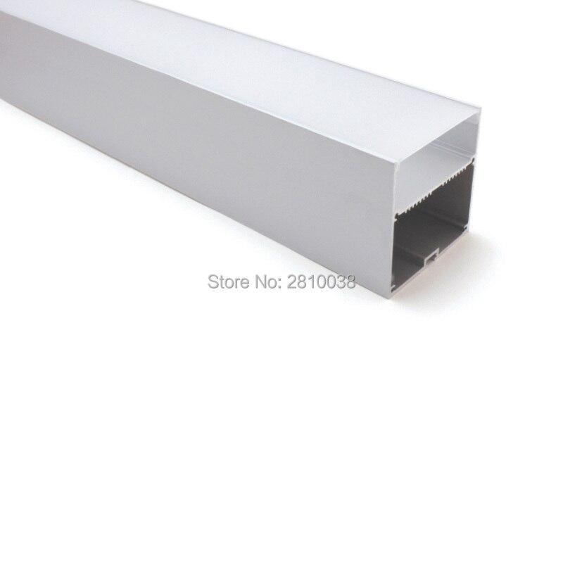 Здесь можно купить  50 X 2M Sets/Lot Office lighting led strip channel Large square type aluminium led housing profile for suspending lamps  Свет и освещение