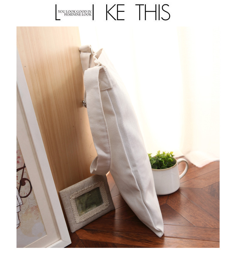 2017 Women Canvas Shopping Bags Casual Tote Zipper Ecofriendly Shoulder Versatile Sack Summer Holiday Beach DIY Painting Handbag
