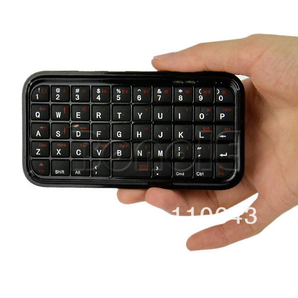 Holiday Sale! Big Discount!! Ultra Slim Mini Bluetooth Keyboard For Iphone 4 Android OS PC PS3 PDA  049