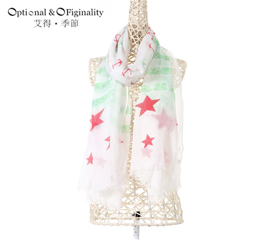 Hot Sale Scarves New 2017 winter Print Feel the Vitality series Women's Scarf Best Christmas gift Free Shipping