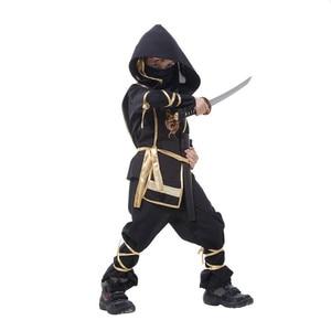 Image 3 - ילדים Ninja תחפושות ליל כל הקדושים מסיבת בני בנות לוחם התגנבות ילדי קוספליי Assassin תלבושות ילדי של יום מתנות