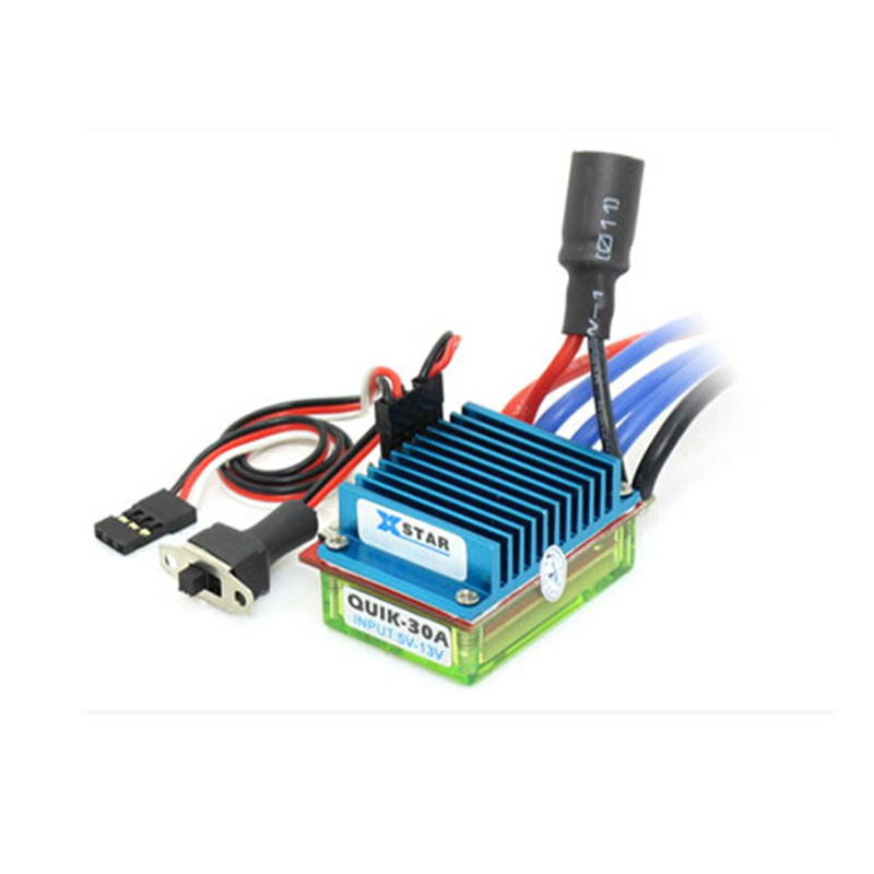 Quik-30A RC hobby car brushless ESC 30A 2-3S 50g electronic speed controller bi-direction forward reverse brake crawler микрофонная стойка quik lok a344 bk