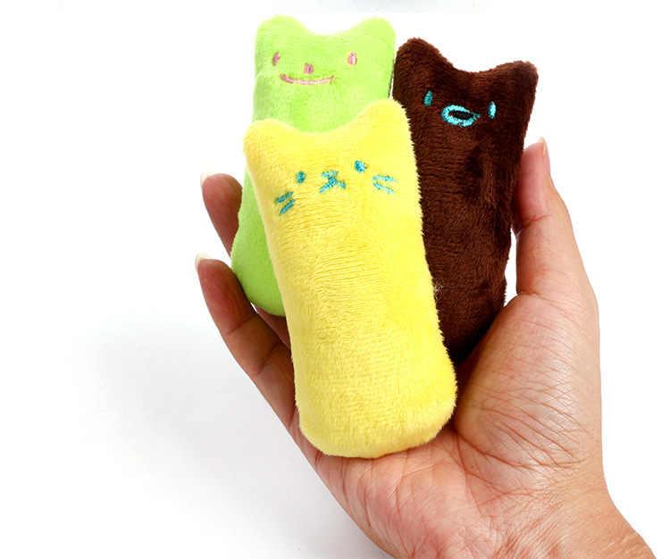 1 adet Catnip kedi oyuncak yastık interaktif kedi oyuncak Catnip Pet malzemeleri yastık başparmak peluş dişleri taşlama Bite nane kedi aksesuarları