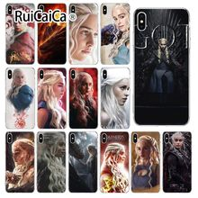 Ruicaica Game of Thrones Daenerys Targaryen Silicone Phone Case Cover for iPhone 8 7 6 6S Plus 5 5S SE XR X XS MAX Coque Shell цена и фото