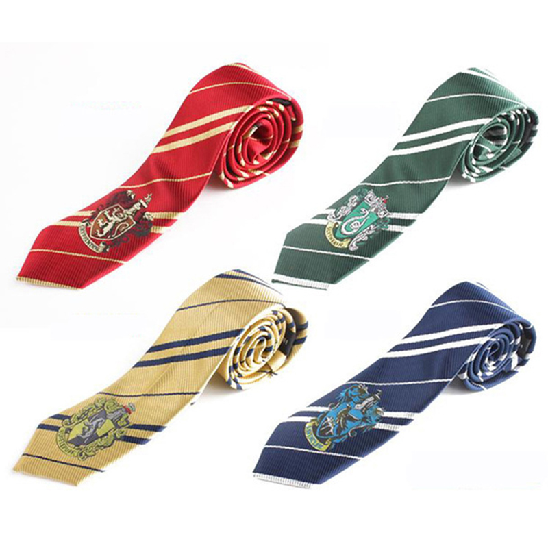 Harry Potter Tie Gryffindor Slytherin Hufflepuff Ravenclaw Cosplay Costumes  Harri Potter Necktie Accessories Gift For Kid Adult