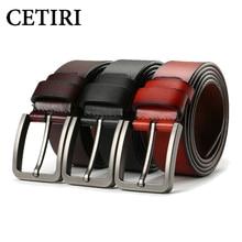 Business Men Belts Male Waist Strap Cowskin Genuine Leather Belt Big Pin Buckle Wide Designers Belts Men High Quality Brand Belt