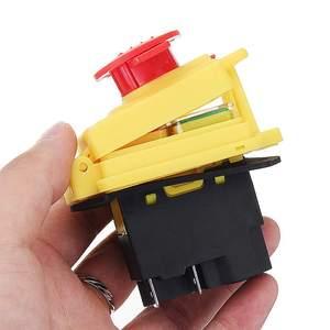 Image 5 - Kedu kjd17 gf start stop switch nvr (2hp/16a) & parada de emergência magnética impermeável 4 pinos sem interruptor de botão de liberação de volts