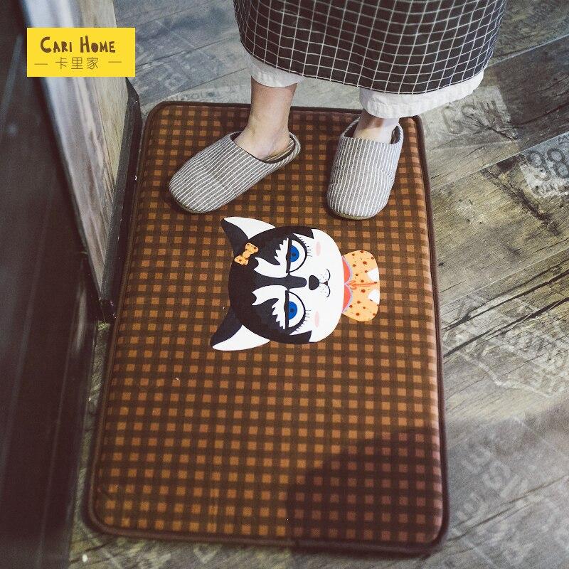 2017 précipité vente directe plancher Tappeti salle de bain tapis mignon bande dessinée porte tapis court en peluche tapis cuisine chambre maison antidérapant