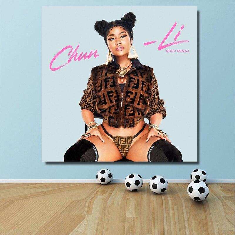 T-1094 Nicki Minaj Chun-Li Cover Queen Album 2019 Art Silk Poster