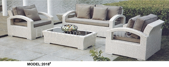 Delicieux Garden White Rattan Sofa Set Furniture With Cushions