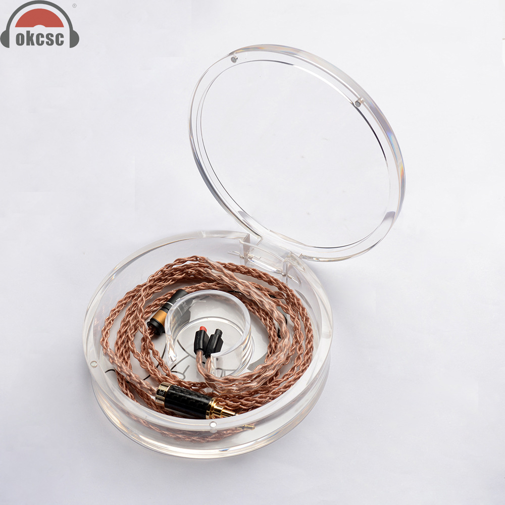 OKCSC Upgrade Earphone Cable single crystal Silver Copper for DIY Earphone for Technica IM50 IM70 IM01 IM02 IM03 IM04 16 shares 4n single crystal silver plated upgrade cable im50 tf10 se535 mh334 mh335 ie80 don t contain earphone head