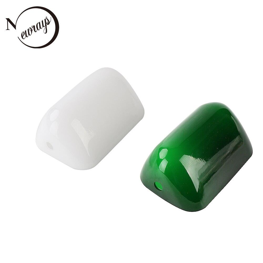 Jade vert verre banquiers lumineux couvercle de la lampe Banquiers Lampe En Verre Ombre Tubé Remplacement abat-jour taille L15 cm W9.5 cm