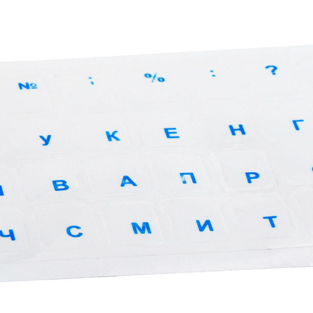 SR Clear Russian Laptop Transparent Keyboard Sticker Russian Language Keyboard Letter Sticker Film with Light Color Keyboard 3