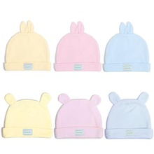 Eslatic Head Cap Double Layer Cotton Baby Caps Hats for Newborn Infant