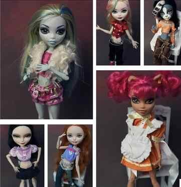 Berbagai Potongan Rok Gaun Pakaian untuk Monster Boneka Pakaian Set Aksesoris Sekolah