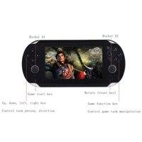 שחקני משחק כף יד 4.3 Inch דק במיוחד 64 קצת קונסולת משחקי וידאו MP5 8 GB זיכרון 1000 סוגים מולטימדיה משחקים קלאסיים