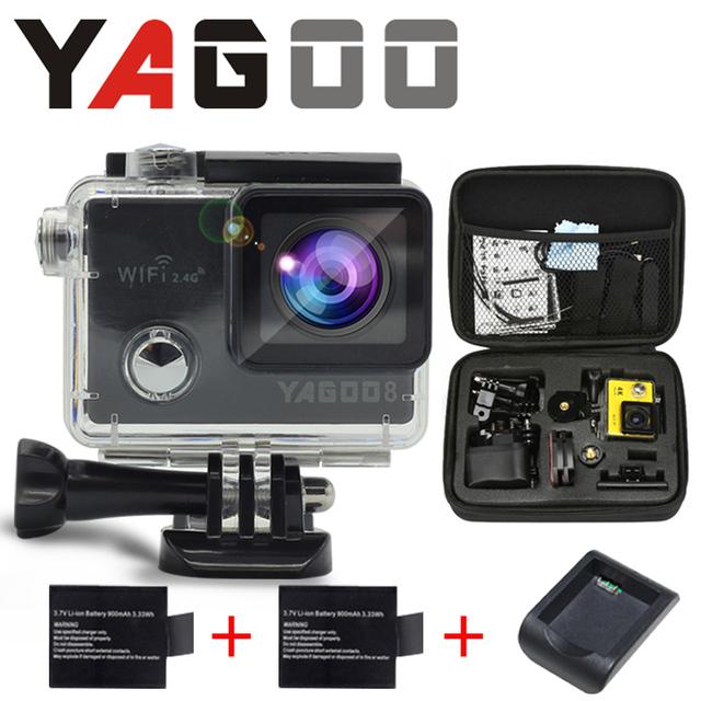 Newst Originl action camera camera WiFi 4 K à prova d' água câmera Mini camear mergulho esporte câmera Helmet Cam recorder Marinha Yagoo8