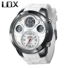 LOX Men Fashion & Casual Analog Digital Multifunction Watch Dual Display Quartz Wristwatches Outdoor Fun Clock Relojes Hombre
