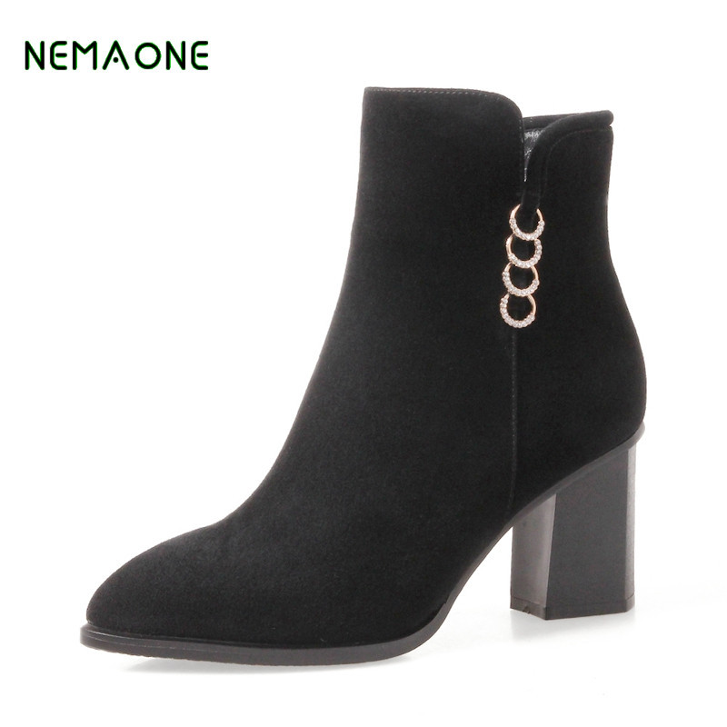NEMAONE NEW High Quality Brand Snow Boots Women Fashion Genuine Leather Australia Women's High Boot Winter Unisex Snow Shoes
