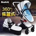 BROTISH 360 Rotativa de Alta Paisagem Shock-Resistant Dobrável Carrinho de Bebê